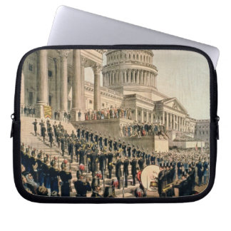 As They Appeared Participating in the Inauguration Laptop Sleeve
