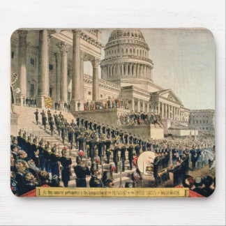 As They Appeared Participating in the Inauguration Mouse Pad