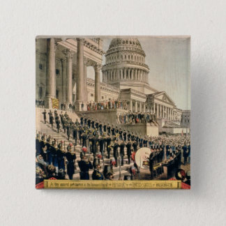 As They Appeared Participating in the Inauguration Pinback Button