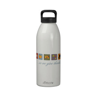 As We Give Thanks Reusable Water Bottles
