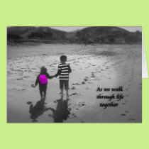 As we walk through life together (little sister) card