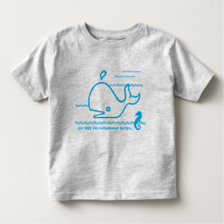 As Willi whale to swim learned | shirt for kids