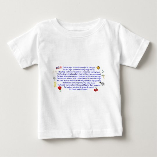As You Await My Return  Freedom Poem with Graphics Baby T-Shirt