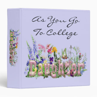 As You Go To College Daughter Binder