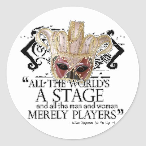 As You Like It Quote Round Sticker