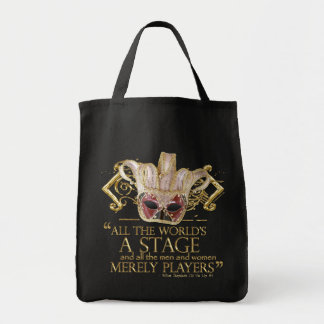 As You Like It Stage Quote (Gold Version) Grocery Tote Bag