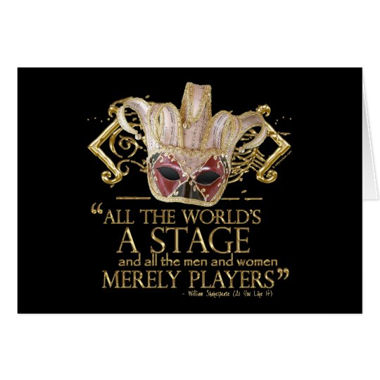 As You Like It Stage Quote (Gold Version) Card
