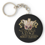 As You Like It Stage Quote (Gold Version) Keychain