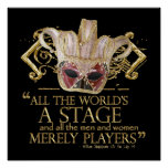 As You Like It Stage Quote (Gold Version) Print