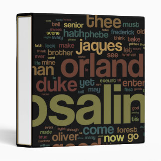 As You Like It Word Mosaic 3 Ring Binder