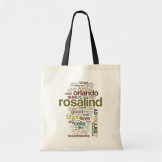As You Like It Word Mosaic Canvas Bag