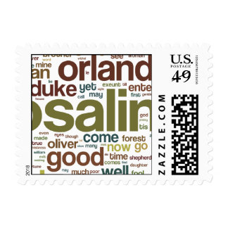 As You Like It Word Mosaic Postage Stamp