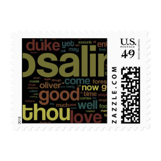As You Like It Word Mosaic Stamp