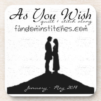 As You Wish Quilt & Stitch Along 2014 Drink Coaster