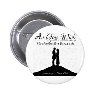 As You Wish Quilt & Stitch Along 2014 Pinback Button