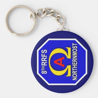 ASA 8th RRFS 1kc Basic Round Button Keychain