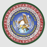 ASA Cipher Wheel 1 Classic Round Sticker