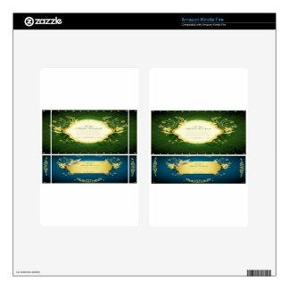 Asadal Golden Frames design Kindle Fire Decals