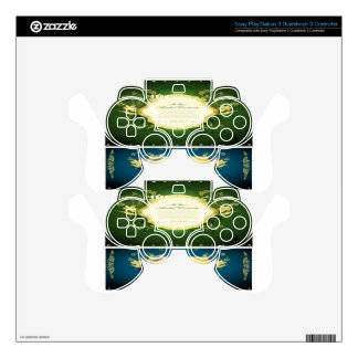 Asadal Golden Frames design PS3 Controller Decals