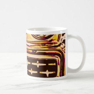 Asado a la parilla cruzado taza
