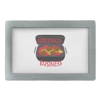 Asado a la parilla de negocio hebillas de cinturon rectangulares