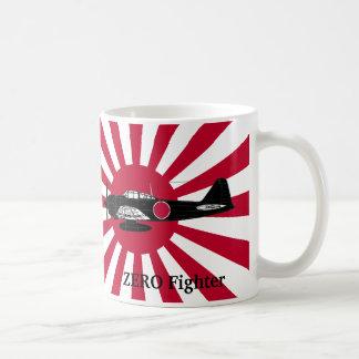 Asahi day flag and Zero fighter Coffee Mug