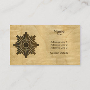 Wood veneer business cards templates zazzle asahiko kamon japanese family crest wood veneer business card reheart Images