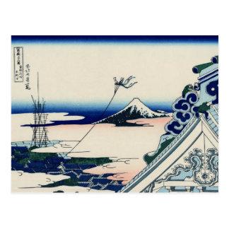 Asakusa Hongan-ji temple (by Hokusai) Postcard