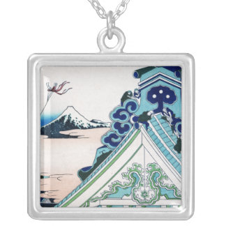 Asakusa Honganji Temple in the Eastern Capital Silver Plated Necklace