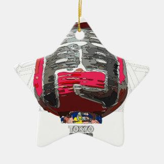 Asakusa Kaminarimon TOKYO SIGHTSEEING Ceramic Ornament