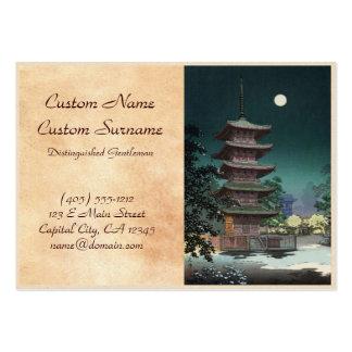 Asakusa Kinryuzan Temple Tsuchiya Koitsu Large Business Cards (Pack Of 100)
