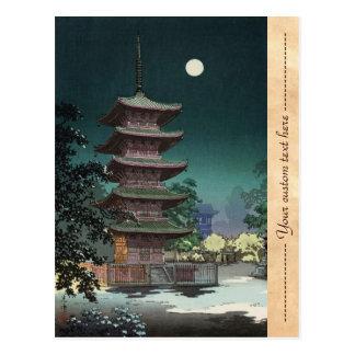 Asakusa Kinryuzan Temple Tsuchiya Koitsu Post Card