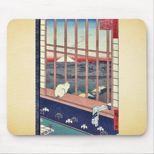 Asakusa ricefields by Andō,Hiroshige Mouse Pads
