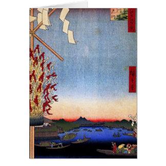 Asakusa River, Miyato River, Great Riverbank (浅草川大 Card