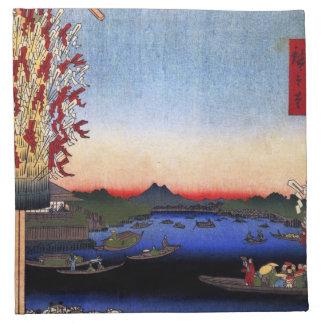 Asakusa River, Miyato River, Great Riverbank (浅草川大 Cloth Napkin