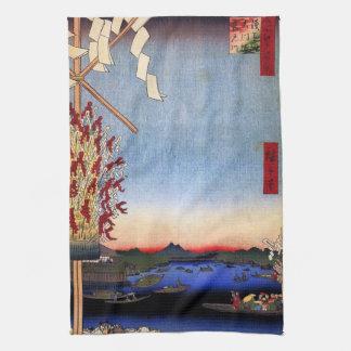 Asakusa River, Miyato River, Great Riverbank (浅草川大 Hand Towel