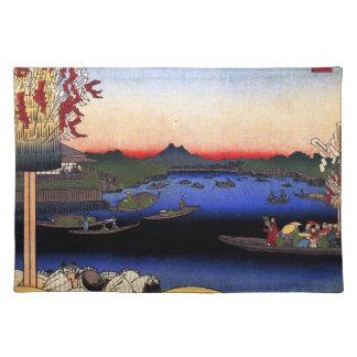 Asakusa River, Miyato River, Great Riverbank (浅草川大 Placemat