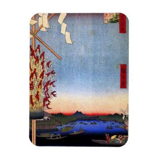 Asakusa River, Miyato River, Great Riverbank (浅草川大 Vinyl Magnets