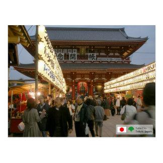 Asakusa Temple Gate Postcard