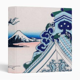Asakusa Temple Hokusai Vintage Japanese Fine Art 3 Ring Binders