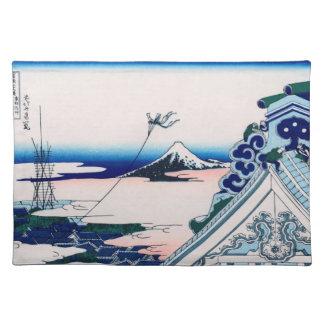 Asakusa Temple Hokusai Vintage Japanese Fine Art Cloth Placemat
