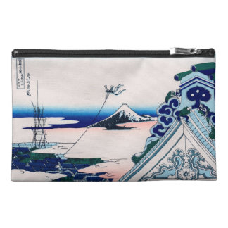 Asakusa Temple Hokusai Vintage Japanese Fine Art Travel Accessory Bag