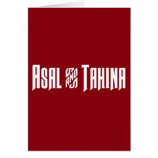 Asal & Tahina Card