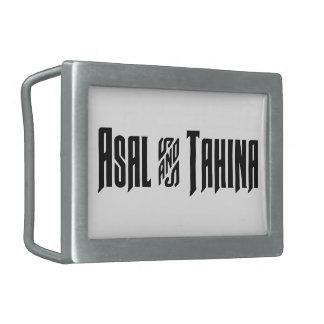 Asal & Tahina Rectangular Belt Buckle