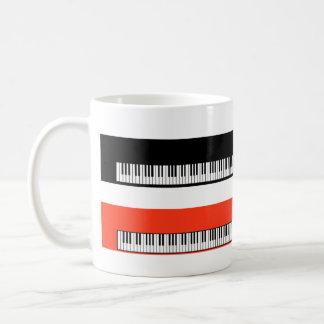 ASALTE al pianista del pianista de los teclados de Taza De Café