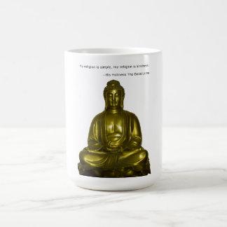Asalte con cita de Dalai Lama en amabilidad Taza Básica Blanca