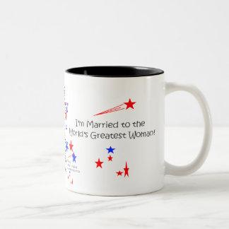 Asalte, yo están casados con la mujer más grande d taza dos tonos