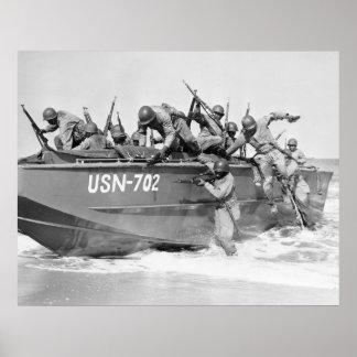 Asalto de la playa, los años 40 póster