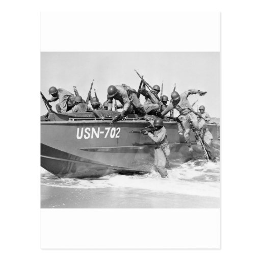 Asalto de la playa, los años 40 tarjetas postales