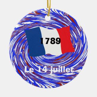 Asalto del Bastille, el 14 de julio de 1789 Adorno Redondo De Cerámica